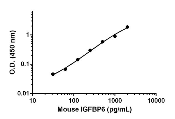 Mouse IGFBP6 standard curve.