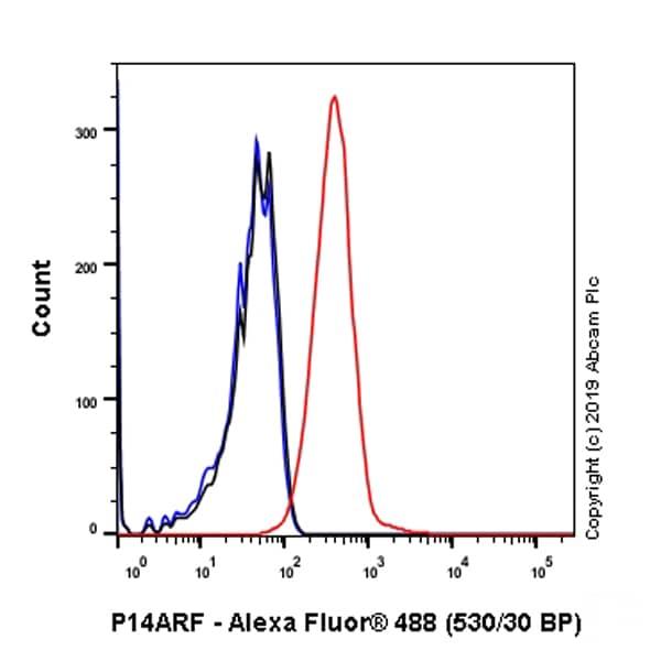 Flow Cytometry - Anti-CDKN2A/p14ARF antibody [SP271] (ab216602)