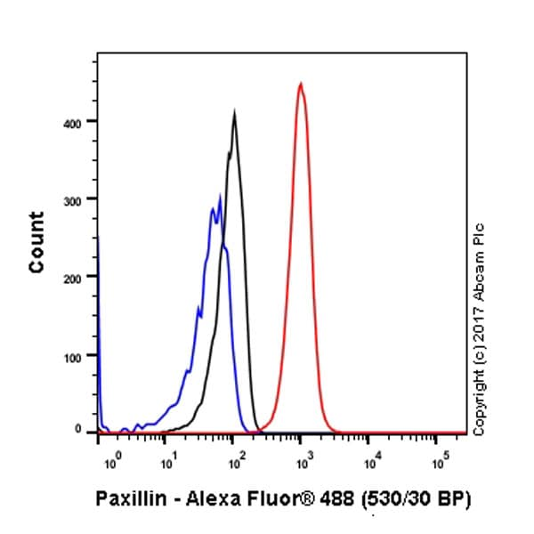Flow Cytometry - Anti-Paxillin antibody [Y113] - BSA and Azide free (ab216652)