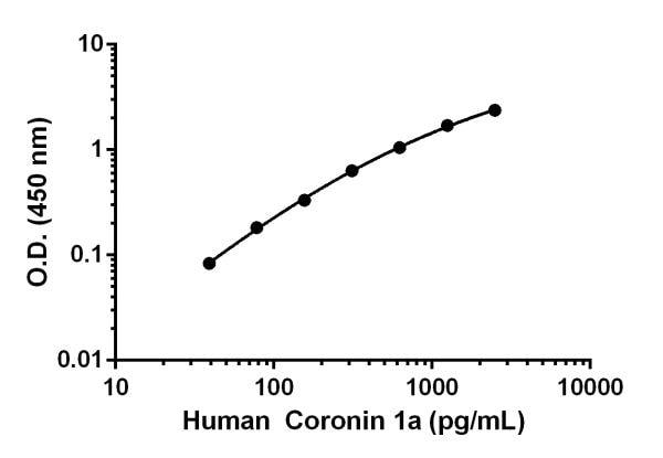 Human Coronin 1a standard curve.