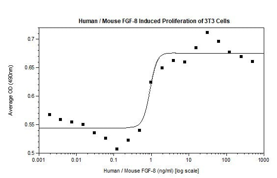 Functional Studies - Recombinant mouse FGF8 protein (Active) (ab218083)