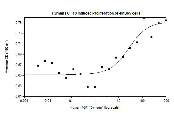 Functional Studies - Recombinant human FGF10 protein (Animal Free) (ab218085)