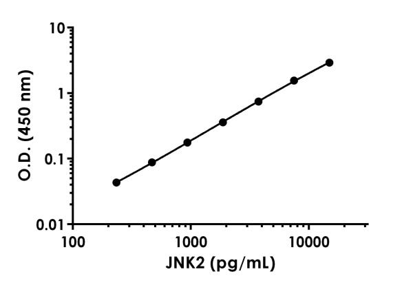 Example of JNK2 standard curve.