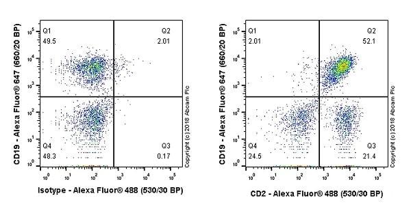 Flow Cytometry - Anti-CD2 antibody [EPR21825] (ab219411)