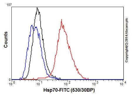 Flow Cytometry - Anti-Hsp70 antibody [EPR16892] - BSA and Azide free (ab219597)