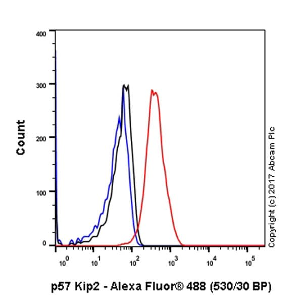 Flow Cytometry - Anti-p57 Kip2 antibody [EP2515Y] - BSA and Azide free (ab219736)