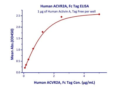 Functional Studies - Recombinant human Activin Receptor Type IIA/ACVR2A protein (Fc Chimera Active) (ab219871)