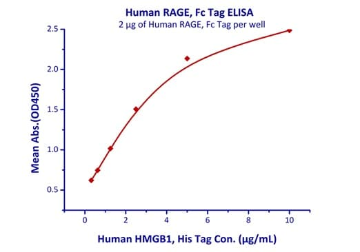 Functional Studies - Recombinant human RAGE protein (Fc Chimera Active) (ab219875)