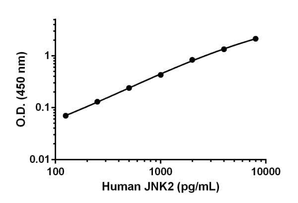 Human JNK2 standard curve.