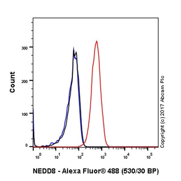 Flow Cytometry - Anti-NEDD8 antibody [Y297] - BSA and Azide free (ab220816)