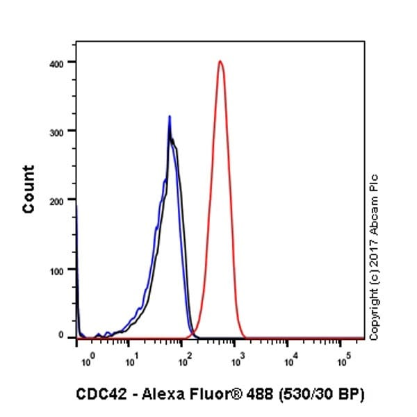 Flow Cytometry - Anti-CDC42 antibody [EPR15620] - Low endotoxin, Azide free (ab221781)