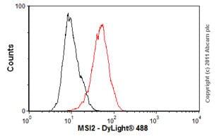 Flow Cytometry - Anti-MSI2 antibody [EP1305Y] - BSA and Azide free (ab221789)