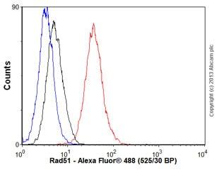 Flow Cytometry - Anti-Rad51 antibody [EPR4030(3)] - BSA and Azide free (ab221796)