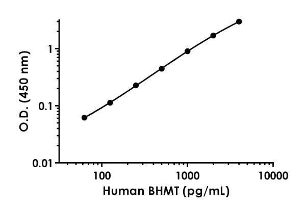 Example of  human BHMT standard curve in 1X Cell Extraction Buffer PTR.