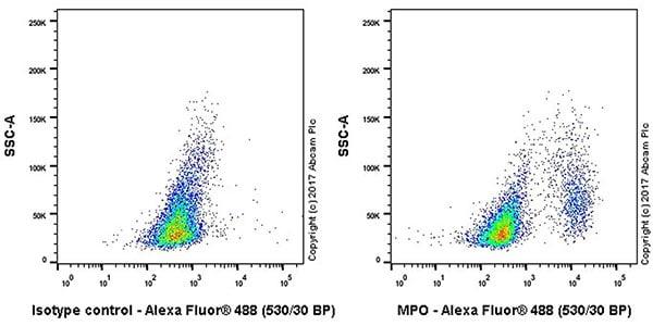 Flow Cytometry - Anti-Myeloperoxidase antibody [EPR20257] - BSA and Azide free (ab221847)