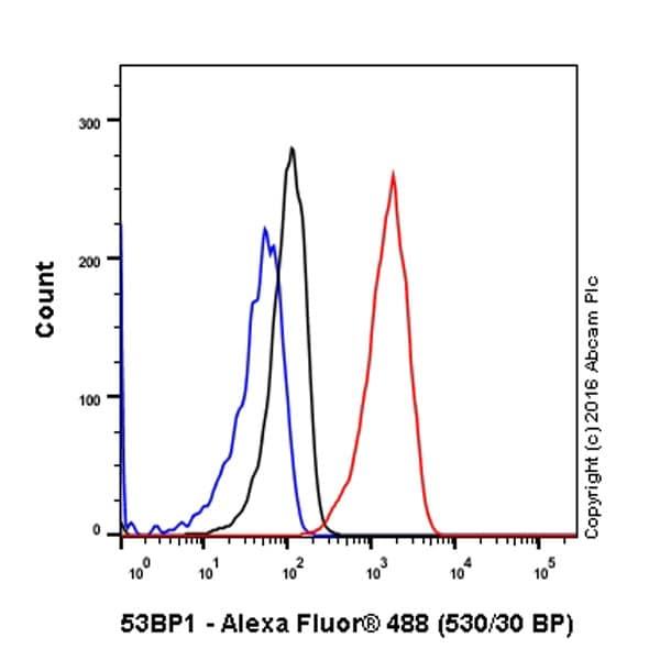 Flow Cytometry - Anti-53BP1 antibody [EPR2172(2)] - BSA and Azide free (ab222232)