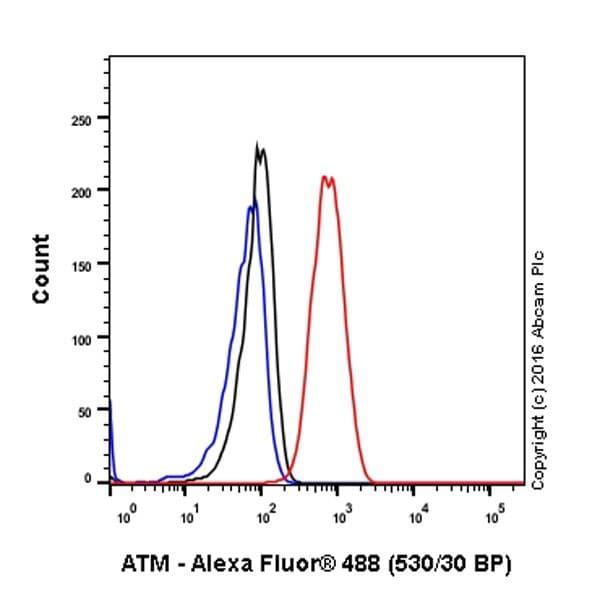 Flow Cytometry - Anti-ATM antibody [EPR20100] - BSA and Azide free (ab223533)