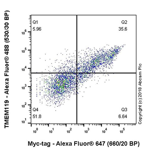 Flow Cytometry - Alexa Fluor® 647 Anti-Myc tag antibody [9E10] (ab223895)