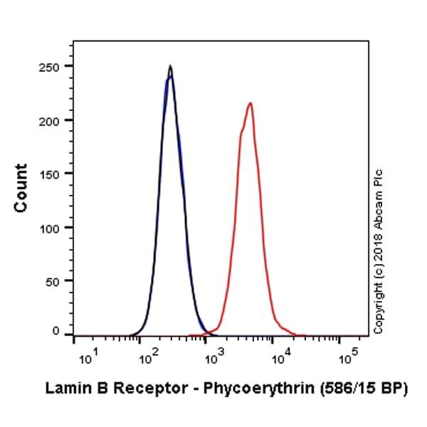 Flow Cytometry - Anti-Lamin B Receptor/LBR antibody [E398L] (Phycoerythrin) (ab224951)