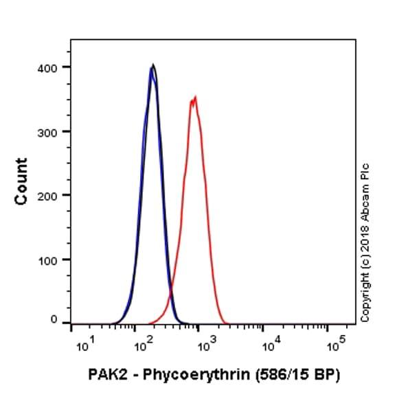 Flow Cytometry - PE Anti-PAK2 antibody [EP796Y] (ab225023)