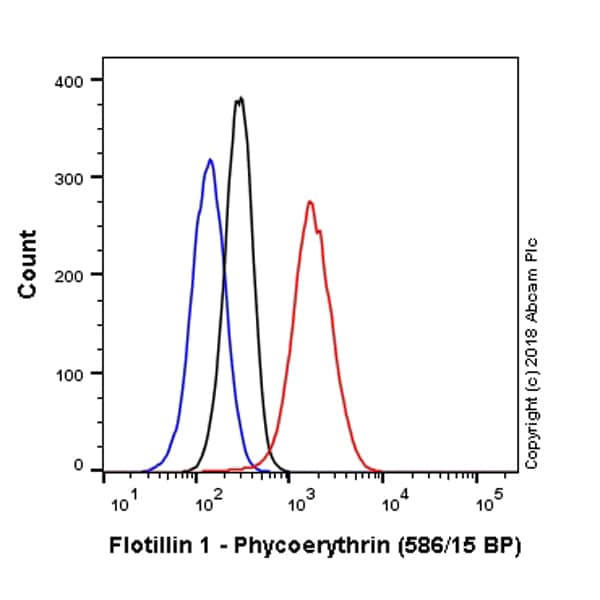 Flow Cytometry - Anti-Flotillin 1 antibody [EPR6041] (Phycoerythrin) (ab225165)