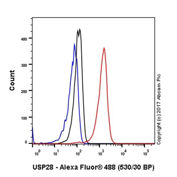 Flow Cytometry - Anti-USP28 antibody [EPR4249(2)] - BSA and Azide free (ab225537)