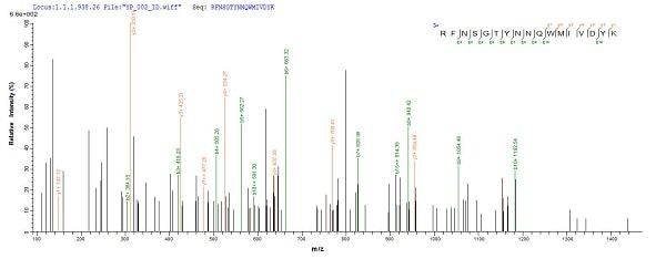 Mass Spectrometry - Recombinant Mouse PLBD2 protein (His tag) (ab226438)