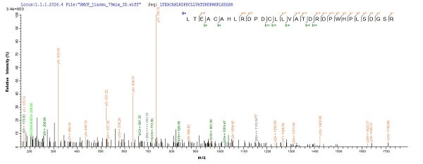 Mass Spectrometry - Recombinant Mouse PDXP protein (Tagged) (ab226443)