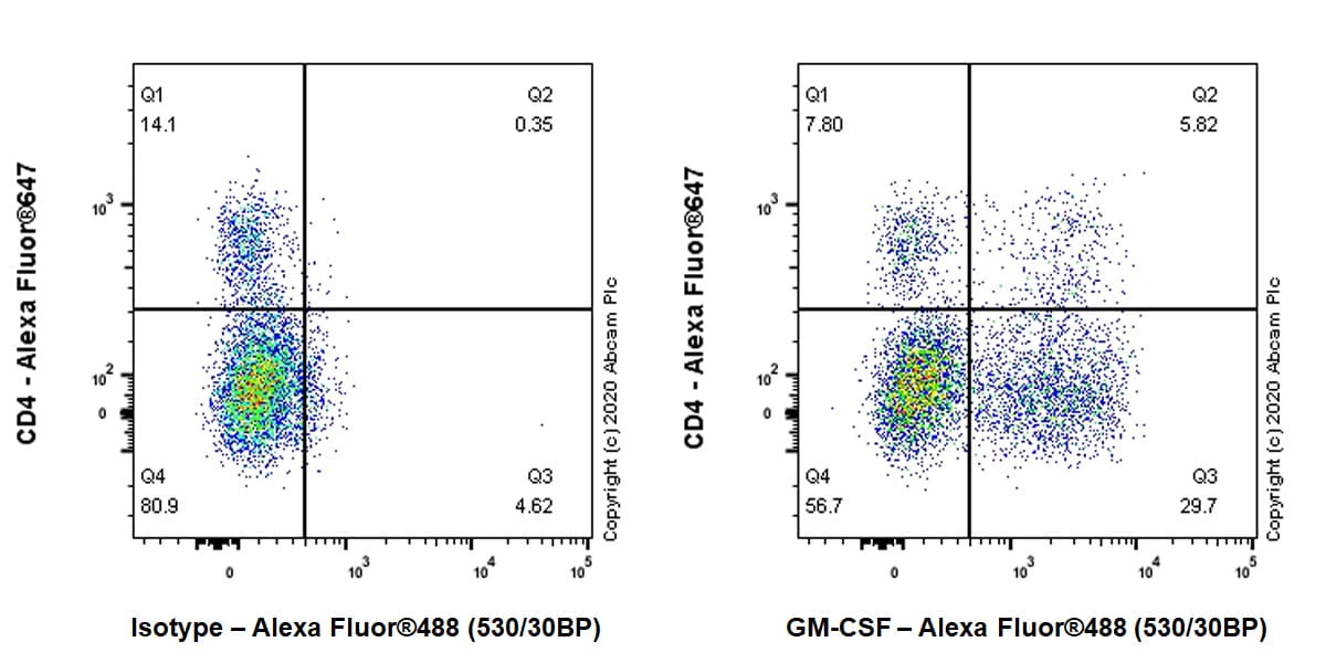 Flow Cytometry - Anti-GM-CSF antibody [EPR23689-17] (ab227031)