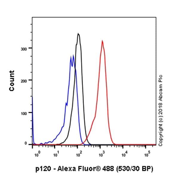 Flow Cytometry - Anti-delta 1 Catenin/CAS antibody [SP63] - C-terminal (ab227638)
