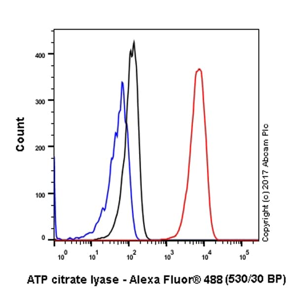 Flow Cytometry - Anti-ATP citrate lyase antibody [EP704Y] - BSA and Azide free (ab227996)