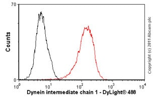 Flow Cytometry - Anti-Cytoplasmic Dynein Intermediate chain antibody [74.1] (ab23905)