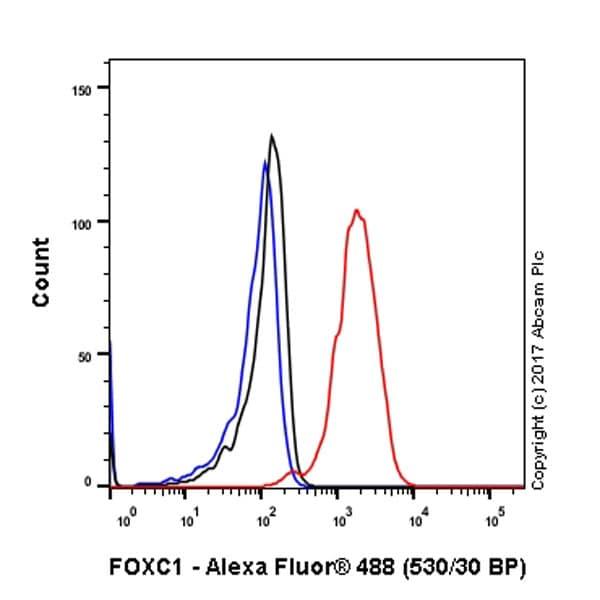 Flow Cytometry - Anti-FOXC1 antibody [EPR20678] - BSA and Azide free (ab230157)