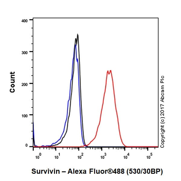 Flow Cytometry - Anti-Survivin antibody [EPR20448] - BSA and Azide free (ab231076)