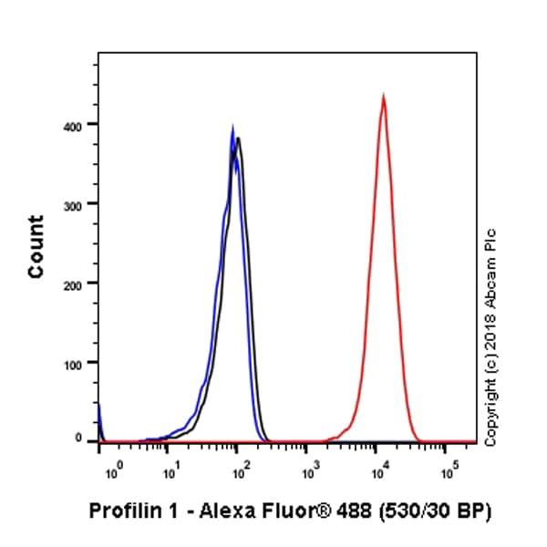 Flow Cytometry - Anti-Profilin 1 antibody [EPR6304] - BSA and Azide free (ab232020)