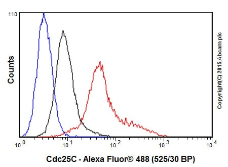 Flow Cytometry (Intracellular) - Anti-Cdc25C antibody [E302] - BSA and Azide free (ab232553)