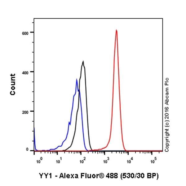 Flow Cytometry - Anti-YY1 antibody [EPR4652] - BSA and Azide free (ab232573)