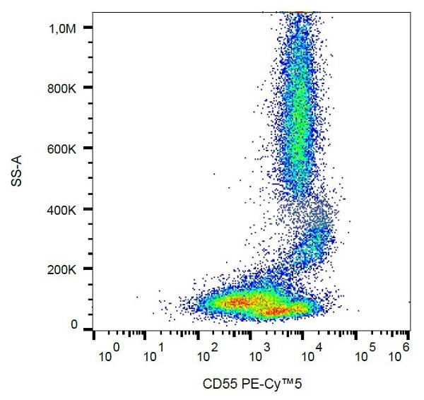 Flow Cytometry - Anti-CD55 antibody [MEM118] (PE/Cy5®) (ab232907)