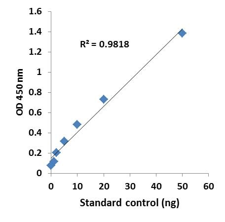 Illustrated standard curve