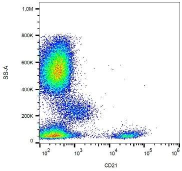 Flow Cytometry - Anti-CD21 antibody [LT21] (PE/Cy7 ®) (ab234211)