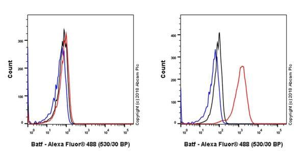 Flow Cytometry - Anti-BATF antibody [EPR21911] - BSA and Azide free (ab234621)