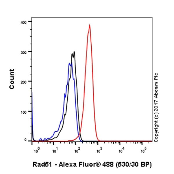 Flow Cytometry - Anti-Rad51 antibody [EPR4031(23)] - BSA and Azide free (ab234634)