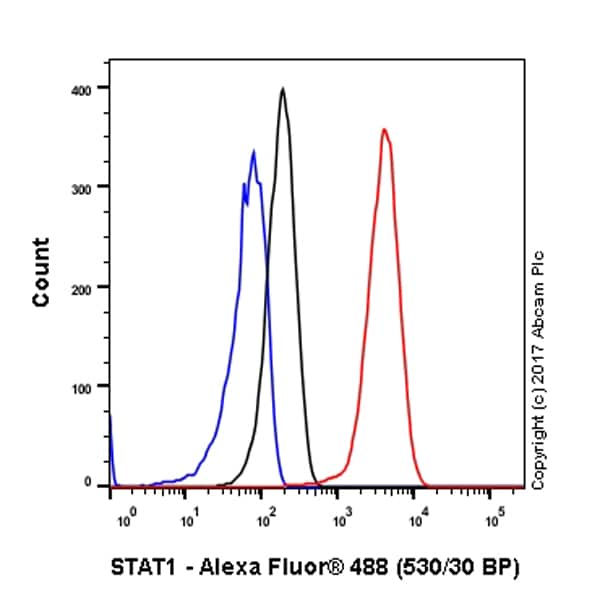 Flow Cytometry - Anti-STAT1 antibody [EPRR21057-168] - BSA and Azide free (ab234902)
