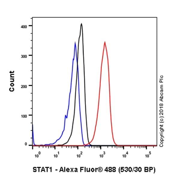 Flow Cytometry - Anti-STAT1 antibody [EPR21057-141] - BSA and Azide free (ab234904)