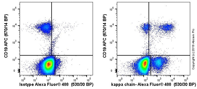 Flow Cytometry - Anti-Human Kappa Chain antibody [TB-28] - BSA and Azide free (ab235128)