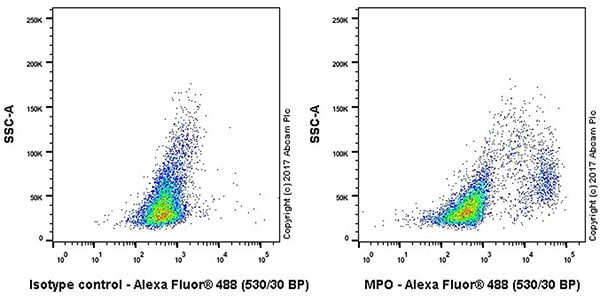Flow Cytometry - Anti-Myeloperoxidase antibody [EPR17996] - BSA and Azide free (ab236022)