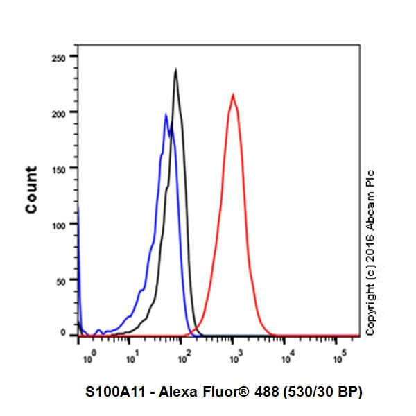 Flow Cytometry - Anti-S100A11 antibody [EPR11172] - BSA and Azide free (ab236123)
