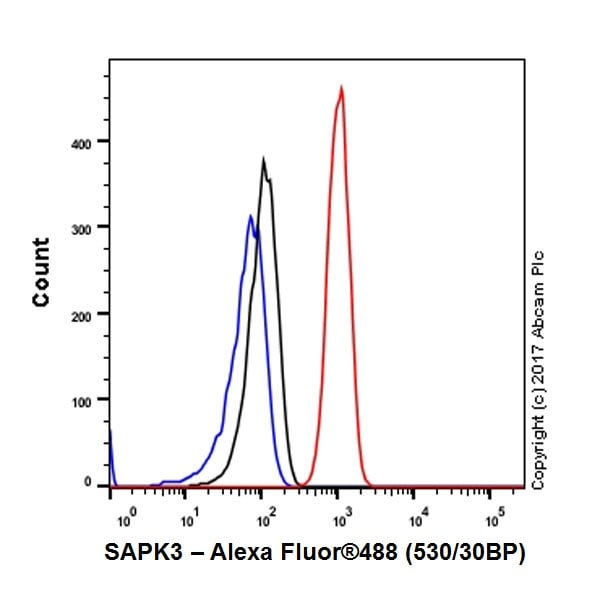 Flow Cytometry - Anti-MAPK 12 antibody [EPR17637-104] - BSA and Azide free (ab236242)