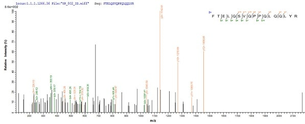Mass Spectrometry - Recombinant Human PU.1/Spi1 protein (His tag) (ab236335)