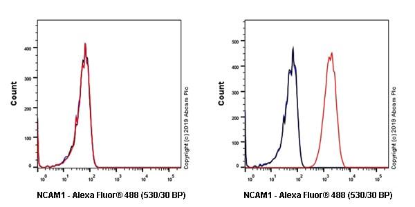 Flow Cytometry - Anti-NCAM1 antibody [EPR21827] (Alexa Fluor® 488) (ab237380)